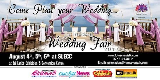 Upcoming Wedding Fair In Colombo Traditional 2017 On August At Slecc Bridal Show