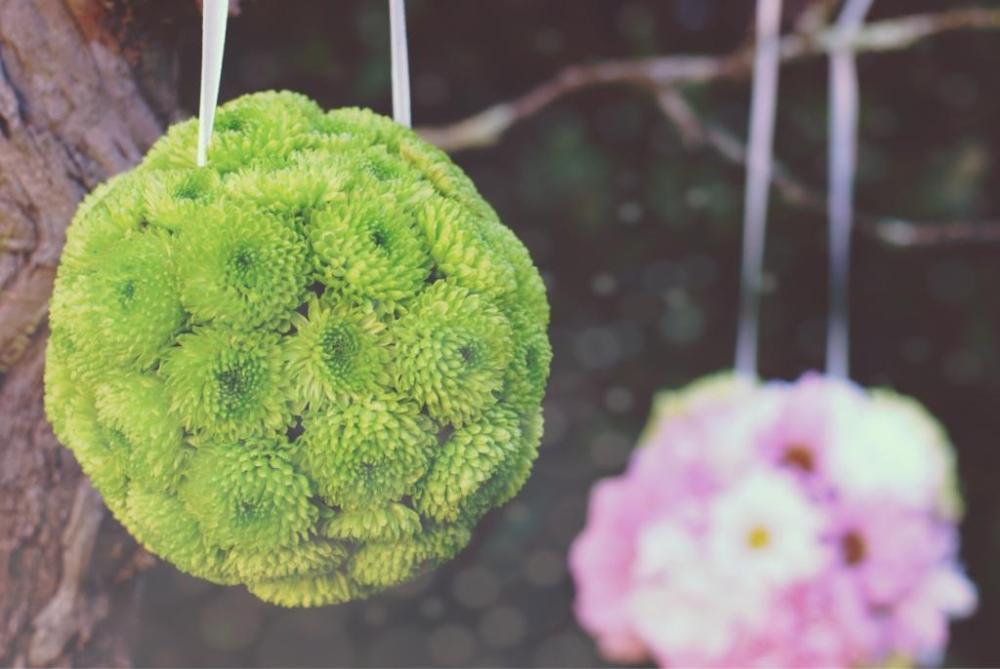 DIY : des boules de fleurs