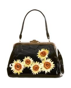 Vintage Sunflower Bag - Black