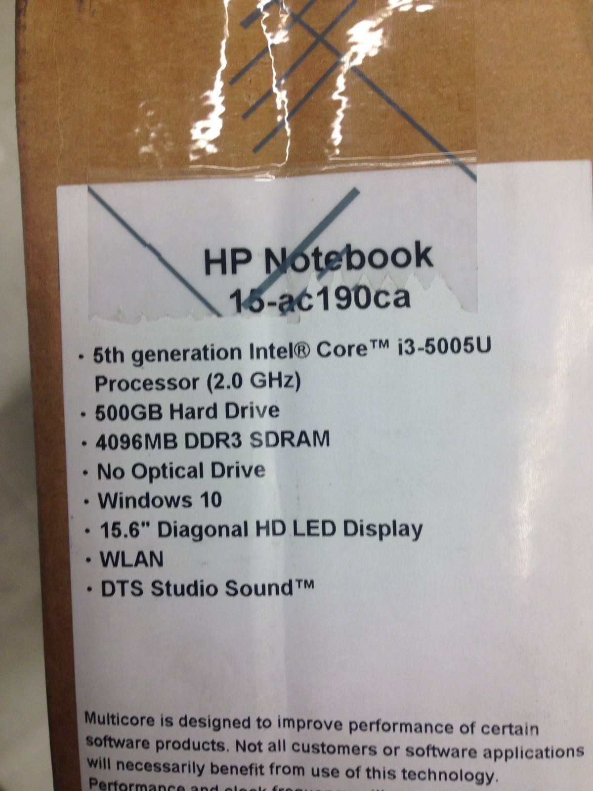 Real Canadian Superstore]HP 15 AC190CA 15 6 Laptop with Intel i3