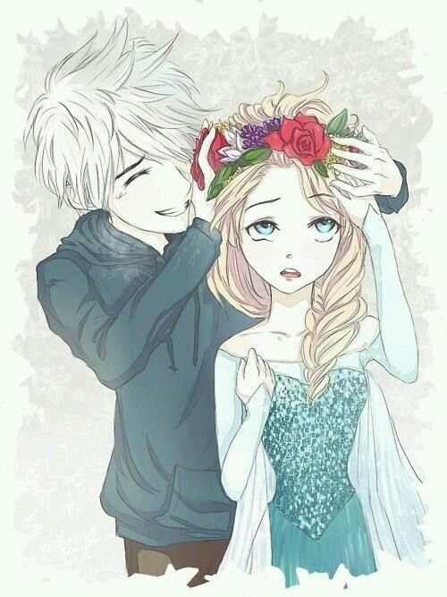 Pin By Queen On Queen Elsa And Guardian Jack Elsa Anime Jack Frost Jack Frost And Elsa