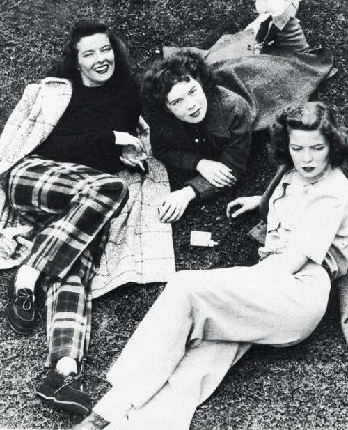 Katharine Hepburn With Her Sisters 1939 Katharine Hepburn Hepburn Katherine Hepburn