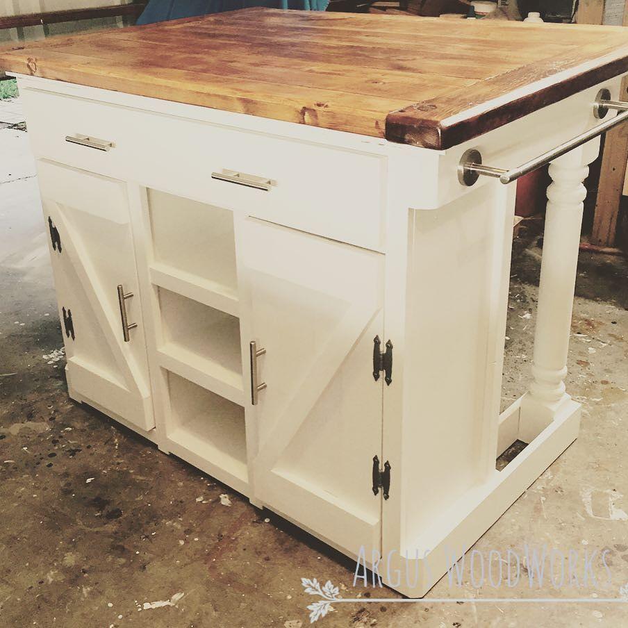 Rustic kitchen island … Farmhouse kitchen island, Diy