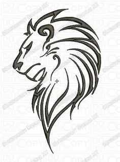 Lion Outline Tribal Embroidery Design In 3x3 4x4 And 5x7 Sizes In 2020 Lion Drawing Lion Face Drawing Lion Head Tattoos Original file at image/png format. pinterest