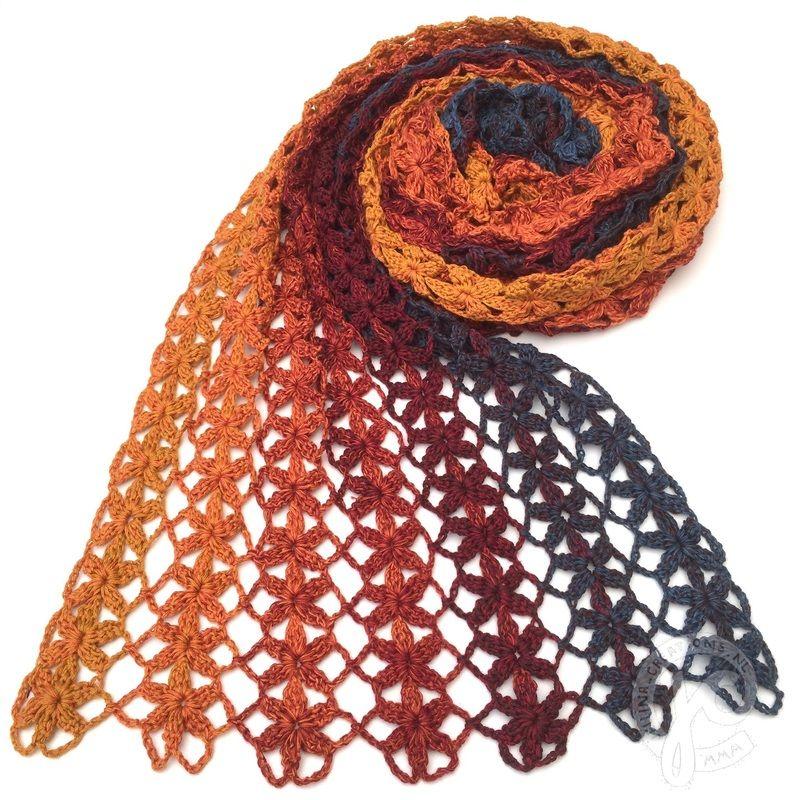 Beroemd haken, gratis patroon, Unicat, Necmiye, verloopgaren, shawl, sjaal #FI45