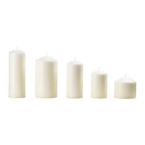 Ikea fenomen unscented block candle set of 5 natural ikea http kitchens junglespirit Images
