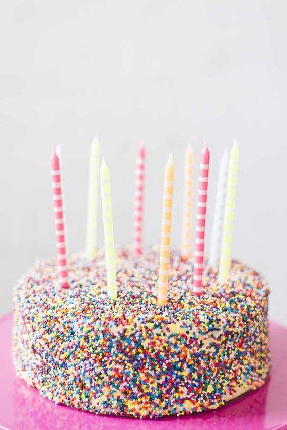Sprinkles Birthday Cake Diy Candles Parties Bash