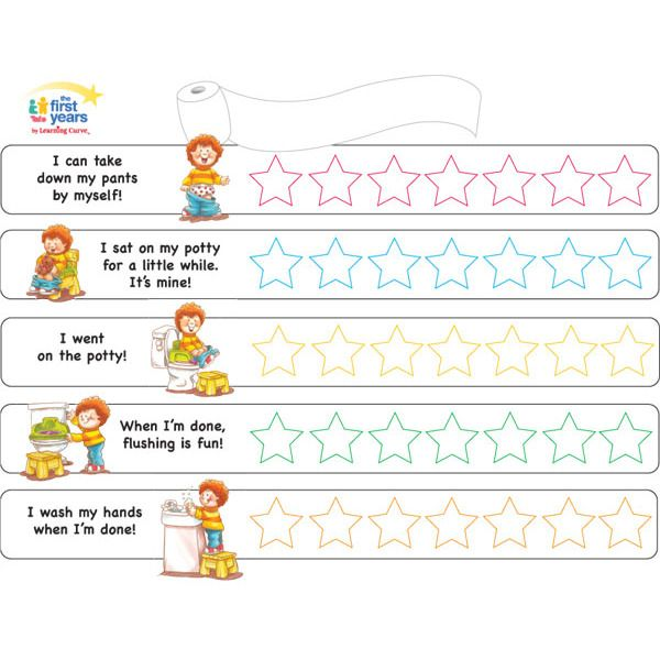 the first years potty training chart by learning curve