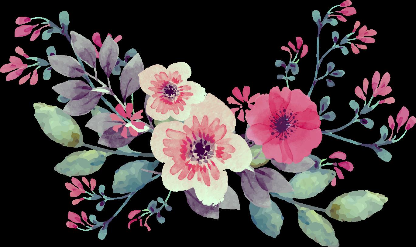 vintage watercolor watercolour flowers flower bouquet