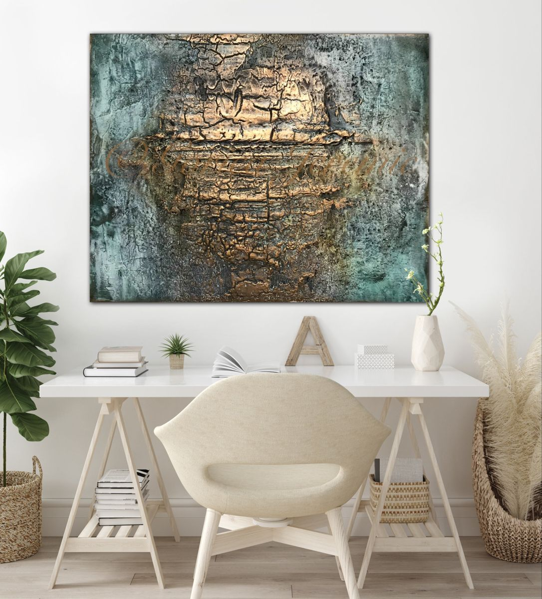 Mixed media on canvas, 80x100 cm #abstractartists #walldecoration #wallartdecor #viennaaustria #mixedmediaart #interiordecor #canvas #zeitgenössischekunst #kunst #pigment #struktur #womenart #painting