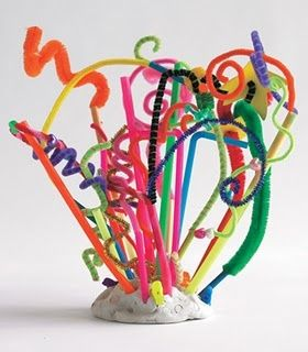 silly sculptures - could put in Dr. Seuss environment. What a cute art idea to celebrate thinking differently and Dr. Seuss's Birthday - Recommended by Charlotte's Clips