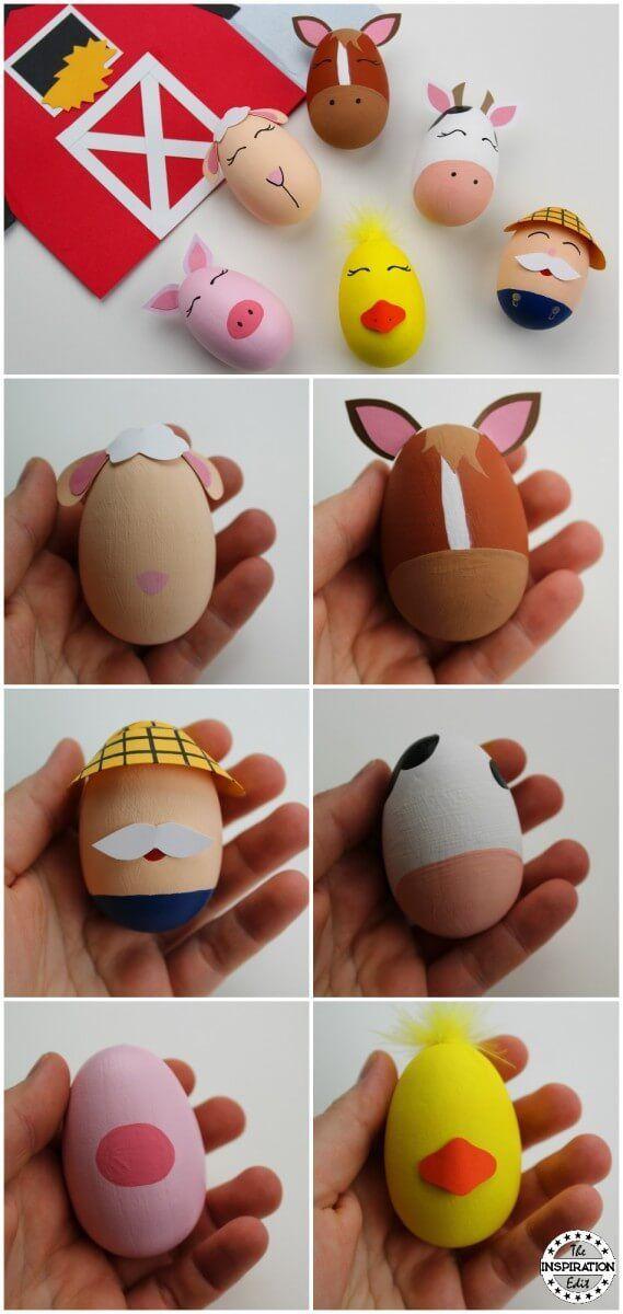 Old Macdonald Egg Craft For Kids Easter Decoration Pinterest