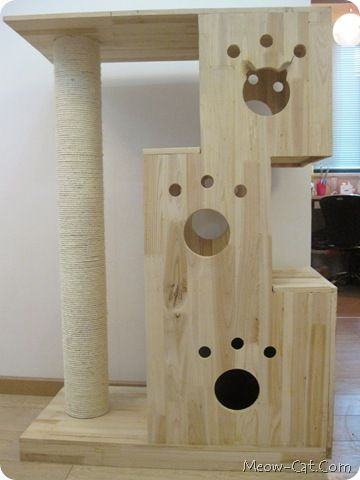 Meow Cat Com 6 Free Plans For Cat Tree Ideas For The House Cats