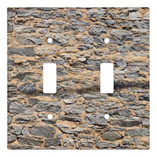 Grunge Stone Wall Light Switch Cover Zazzle Com Wall Lights Light Switch Covers Stone Wall