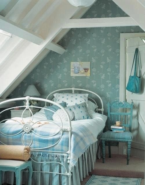 Shabby..I always think of shabby as being cream and pink, but I really like this blue shabby! Very pretty.