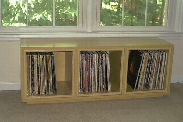 Media storage on pinterest record storage record for Diy vinyl storage