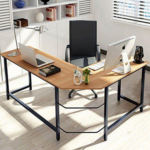 modern l shaped desk little tree corner computer desk pc latop rh pinterest com