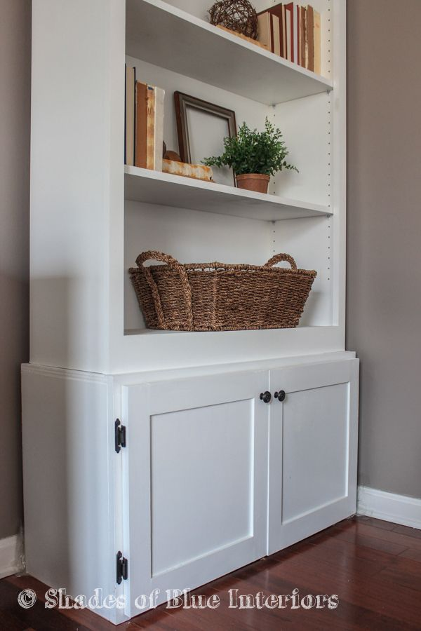 How To Build A Custom Cabinet Base For A Bookcase Bookshelves