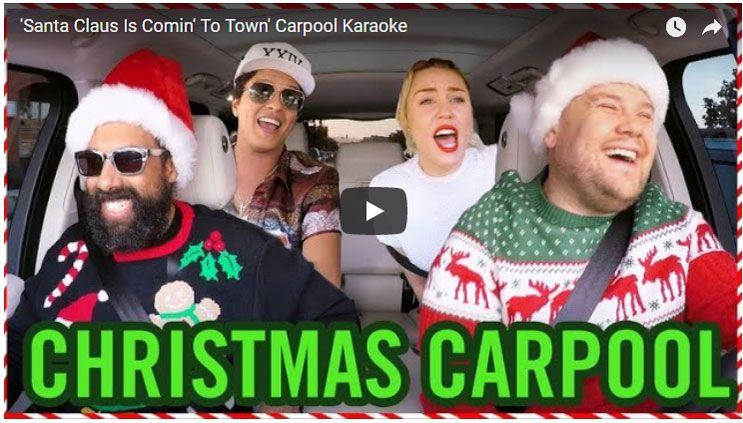 Literally All Your Favorite Celebrities Joined James Corden For Holiday Carpool Karaoke Carpool Karaoke Karaoke Christmas Carpool Karaoke