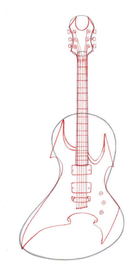 Draw Guitars Shit Is Gettin Sketched Guitar Guitar Drawing