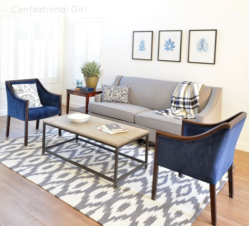 Living room navy gray cs blog images posts for Pinterest living room furniture