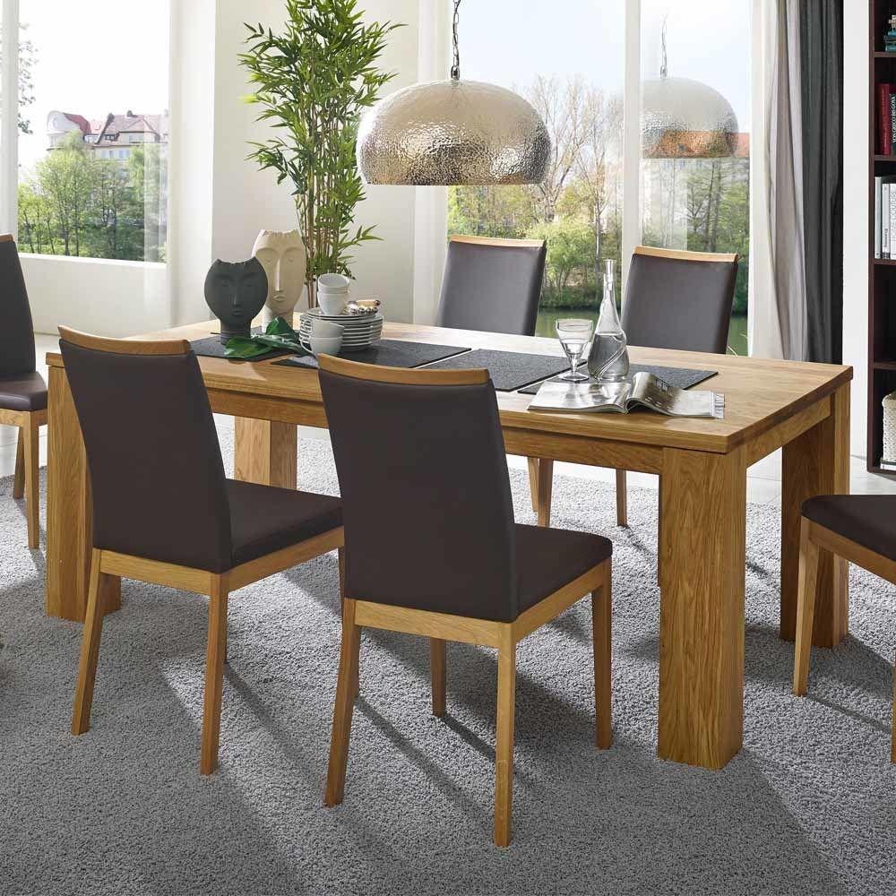 Esszimmertisch aus Wildeiche Massivholz 2 m breit Jetzt bestellen ...