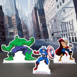 Avengers Playset | Free Printables | Disney Family.com- Avengers assemble!   I shrunk these down to 65% and used them as cake toppers for the Super Hero Party.