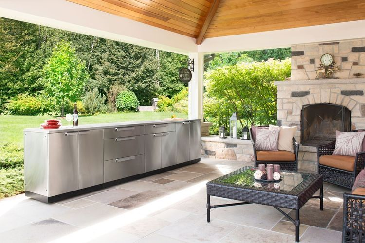 Newage Products Classic Stainless Steel 3 Piece Outdoor Kitchen Outdoor Kitchen Cabinets Outdoor Kitchen Outdoor Kitchen Sink