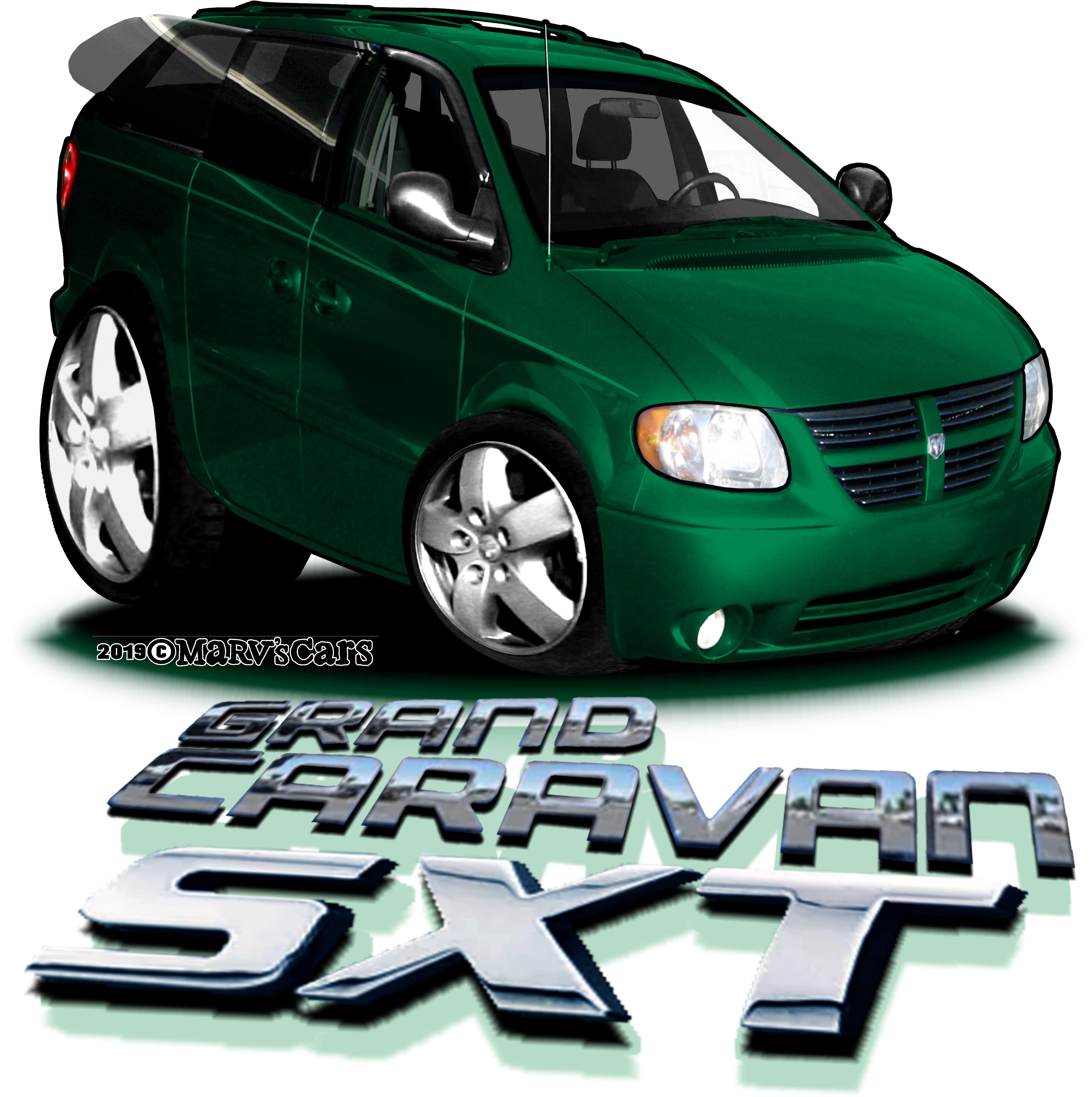 Marvs Cars Grand Caravan Cartoon Style Drawing Cartoon Styles