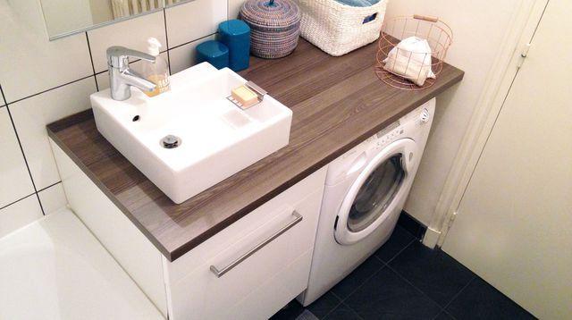 Aménagement petite salle de bain  plans gratuits, idées, meubles - meuble salle de bain panier a linge