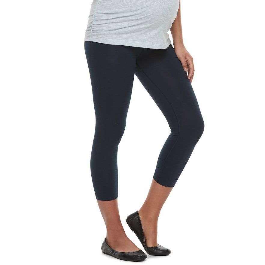 c79a60ce13c1a0 A Glow Maternity a:glow Full Belly Panel Capri Leggings | Products ...