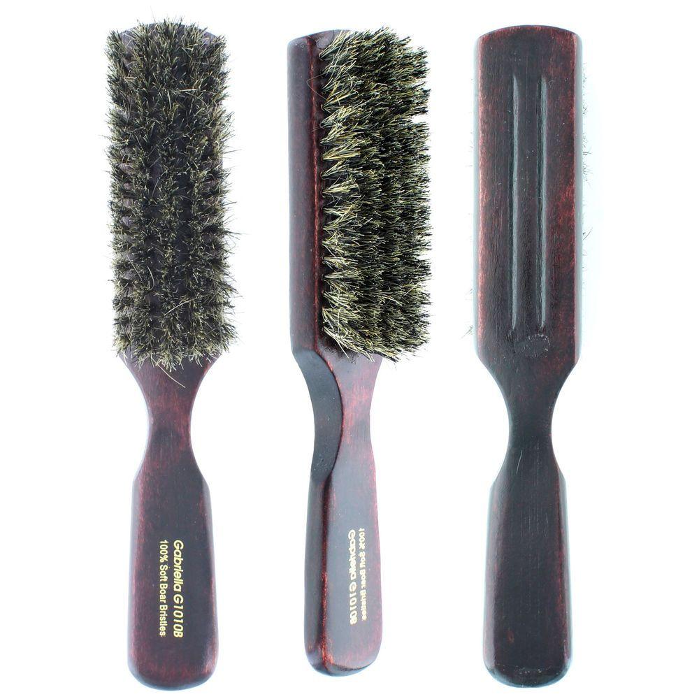 100 Pure Soft Boar Bristle Narrow Brush Real Wood Handle Wave G1010b Premium 671331210101 Ebay Boar Bristle Boar Bristle Brush Pure Products