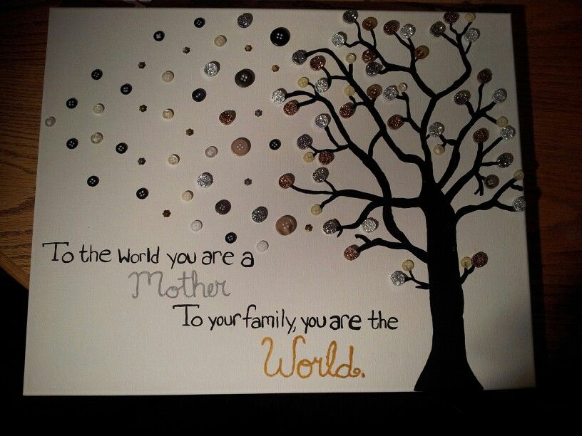 Diy Canvas Mom Quote Tree Christmas Gift Diy Christmas Canvas Mom Diy Diy Christmas Gifts For Friends
