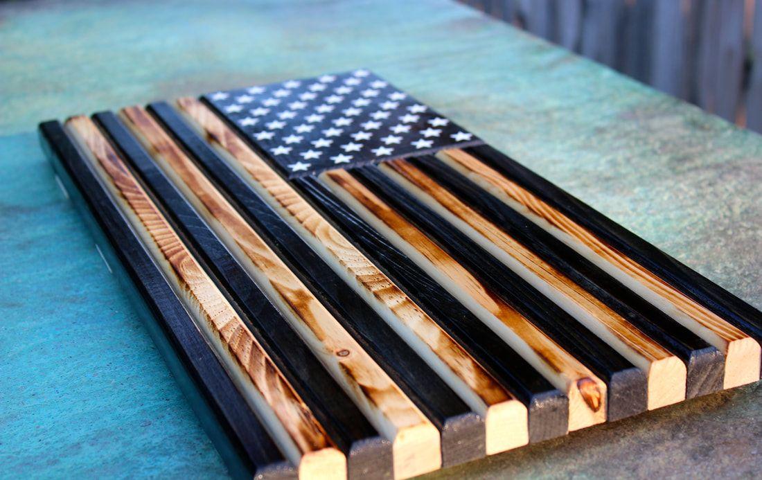 Gallery original 13 flag co wooden american flag