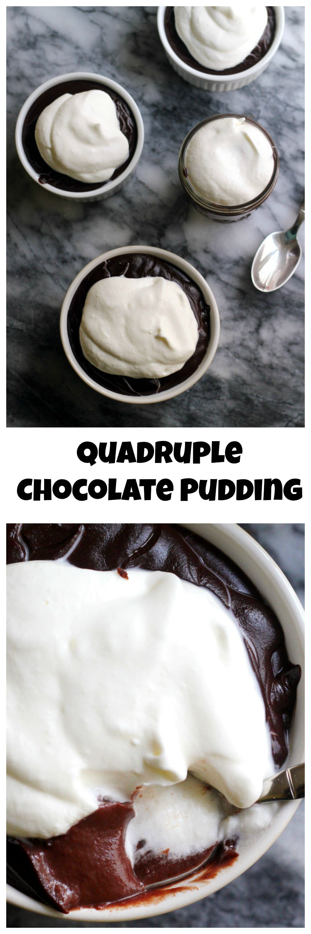 Chocolate lovers, gather round, because this quadruple-chocolate chocolate pudding is rich, delightful, and like music to your taste buds!