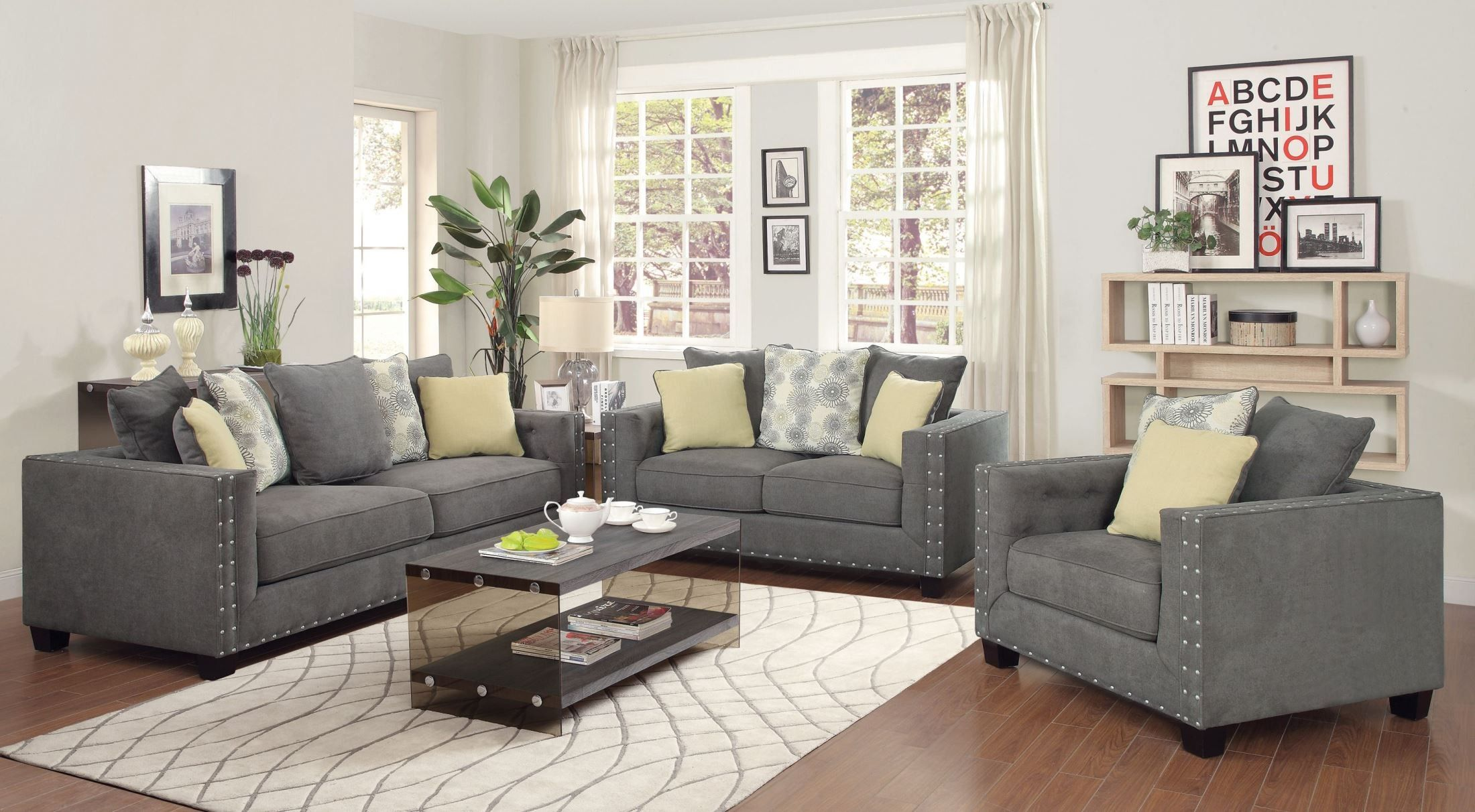 Exceptionnel Kelvington Sofa Set Collection # Charcoal Sofa # Coaster 501421 # Living  Room Sofa Set