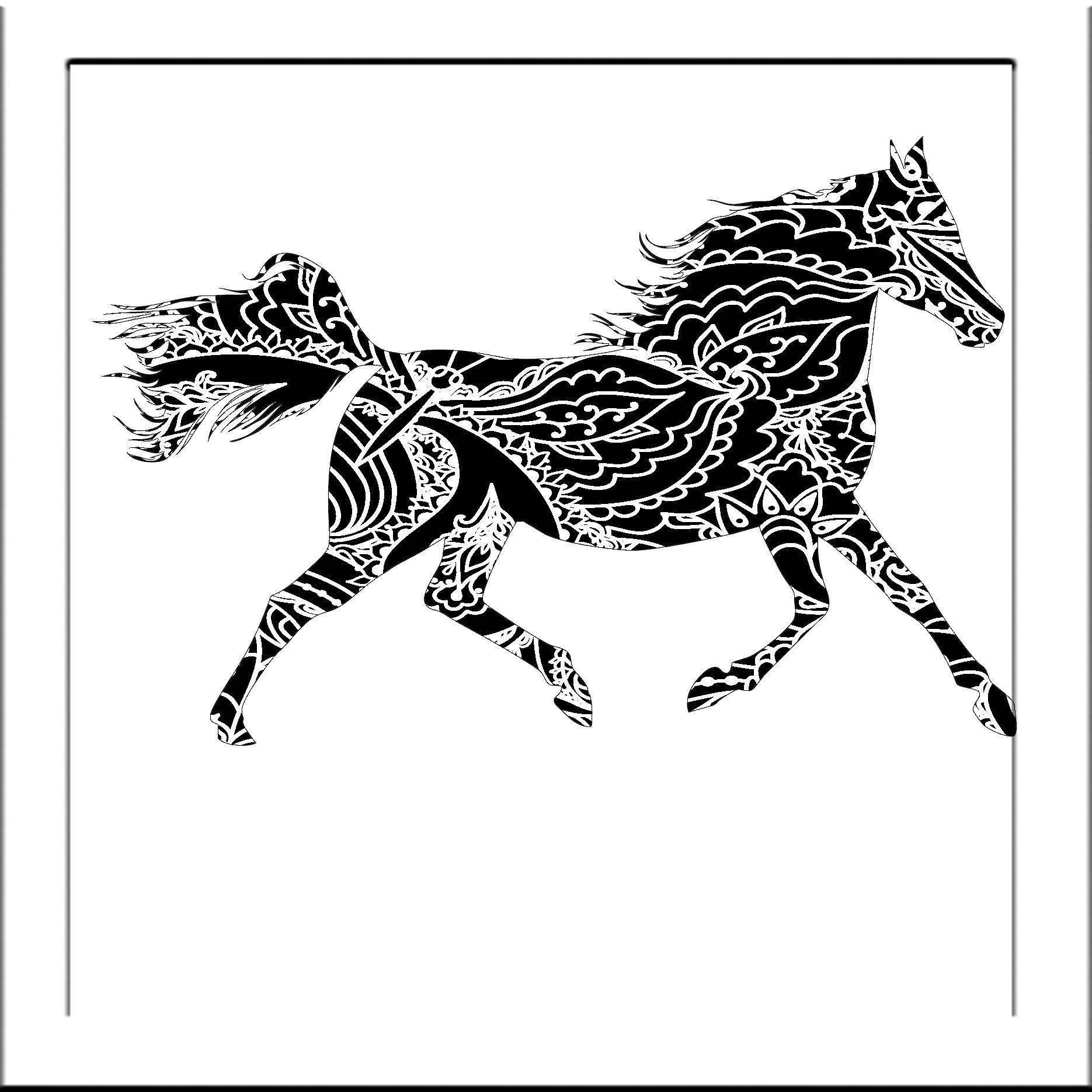 Horse Papercut Template Running Horse Svg Paper Cut Templates