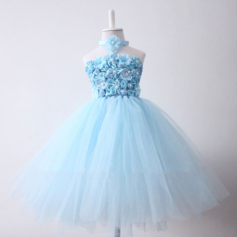 Blue Bouquet Tutu Dress #baby #tutudress Sizes: 1-2 years | Tutu ...