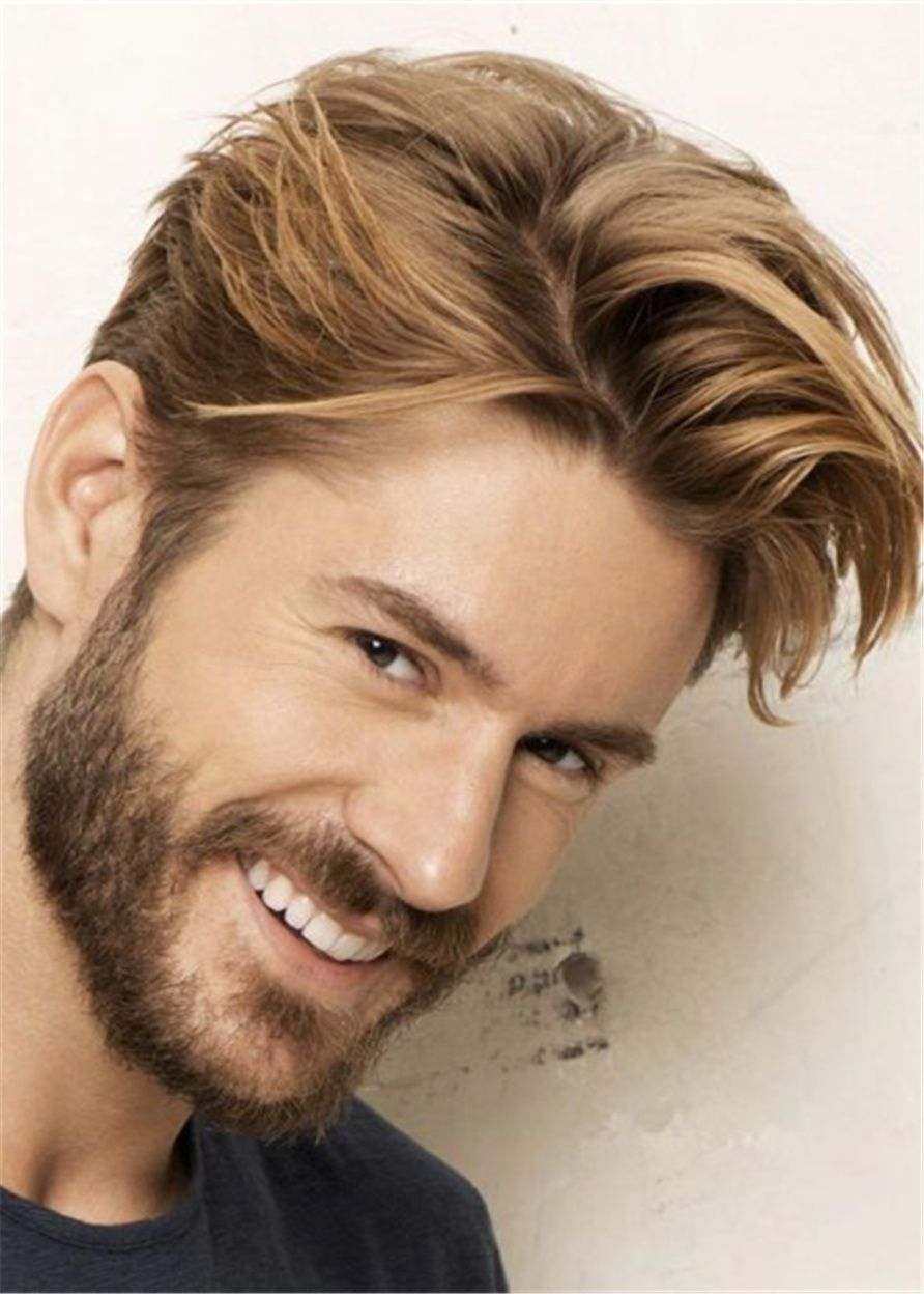 Ericdress Swagger Hairstyle Human Hair Straight Full Lace Men S Wig All Wigs Free Shipping Ericdressreviews Ericdress Wigs R Har Og Skonhed Kortharet Frisure