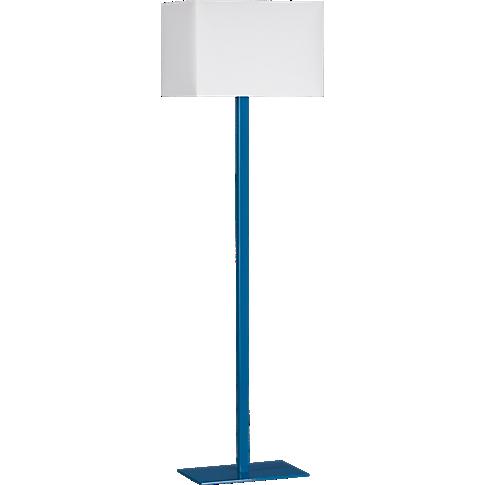 John Peacock Blue Floor Lamp In All Lighting Cb2 Modern Floor