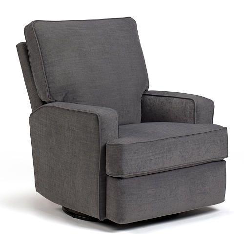Best Chairs Kersey Swivel Glider Recliner Steel Best