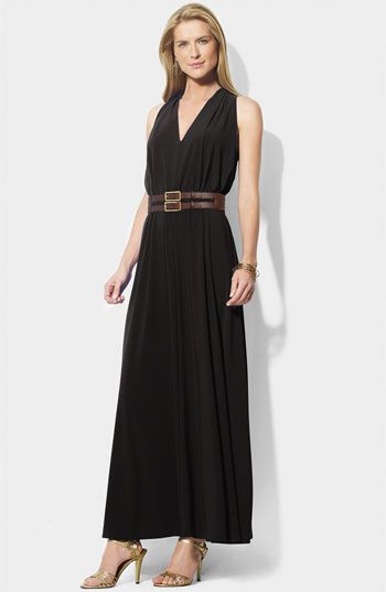 2e1783f404 Lauren by Ralph Lauren Belted Jersey Maxi Dress available at Nordstrom