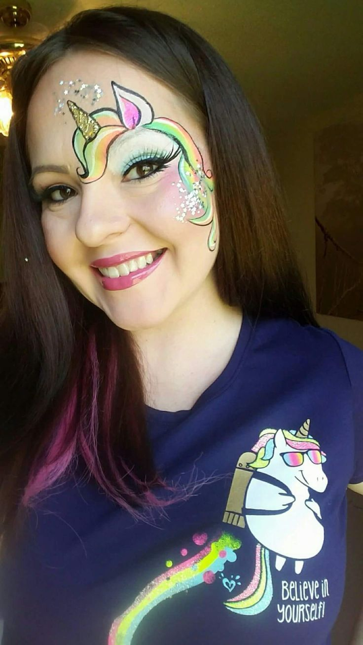 Photo of Unicorn Face Painting – Augendesign #augendesign #beauty #beauty face #einhorn #Ei …