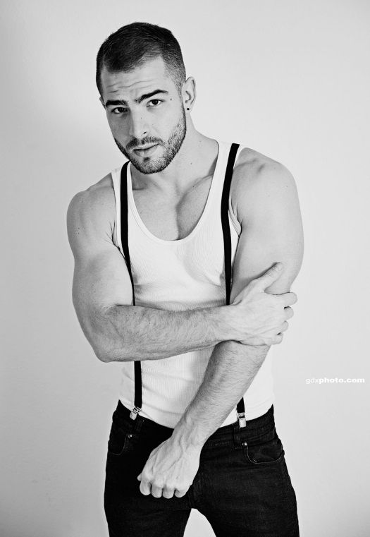 man with suspenders Hot
