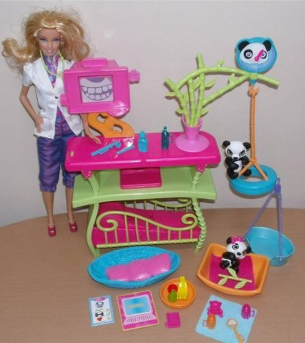 Barbie I Can Be A Panda Doctor Veterinary Playset By Mattel