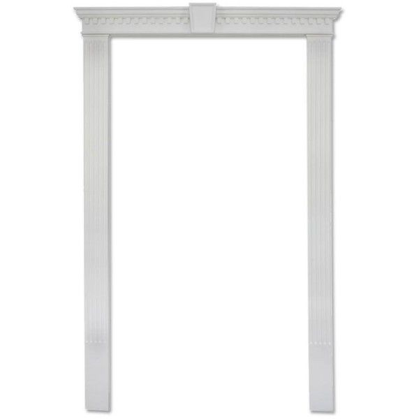 Focal Point Colonial 47-1/2 in. x 90 in. White Door Surround Kit ...