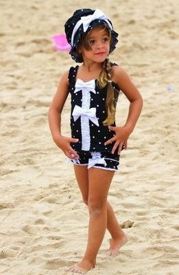 af95c8d564765 photos of vintage style little girls clothing | Adorable Girls Bathing Suits  from Chichinella Bella Swimwear .