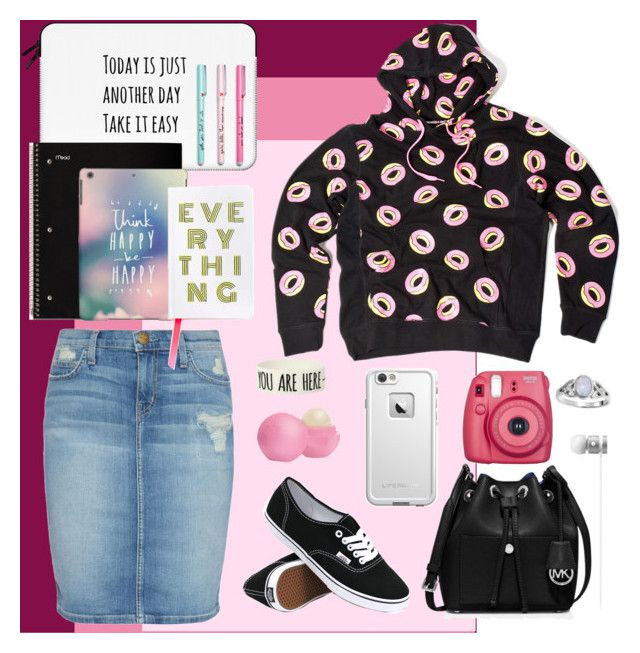 """""""Untitled #52"""" by not-today-no-mmxvi on Polyvore featuring Current/Elliott, MICHAEL Michael Kors, Eos, Vans, Beats by Dr. Dre, LifeProof, ODD FUTURE, Bling Jewelry and Casetify"""