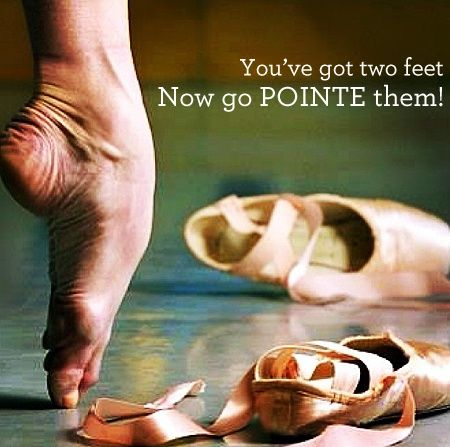 Now Go Pointe Them! #dance #feet #pointe- I wish I had THOSE feet...