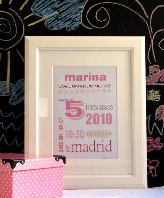 Certificado de nacimiento completo#rosa#poster#bebe | bebe | Pinterest
